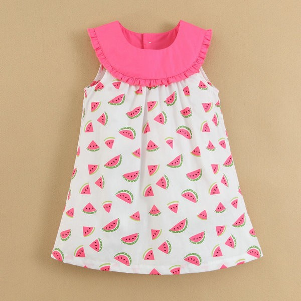 Summer-Woven-Dress-Kids-Clothes-100-Cotton